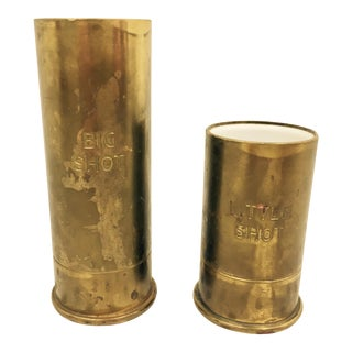 Vintage Brass Buck-Shot Gun Shell Barware
