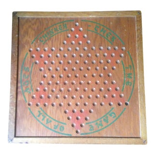 Vintage Wood Chinese Checkers Board