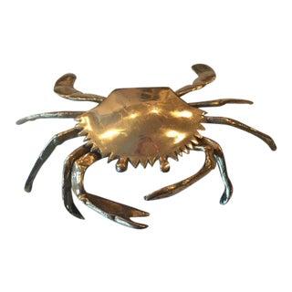 Vintage Large Brass Crab Box