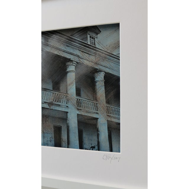 """Image of """"The Massive Columns"""" Framed Hand- Colored Photographic Print"""