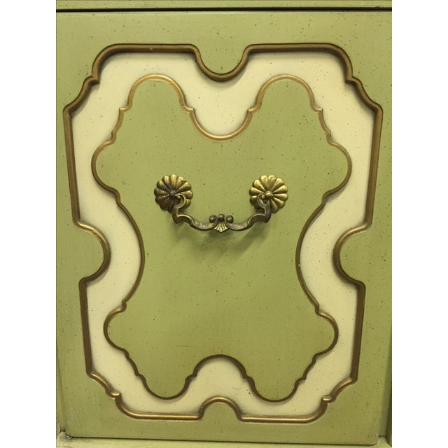 Image of Vintage Green & White Cabinet