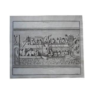 "Antique ""Naval Battle""#2 Folio Engraving"