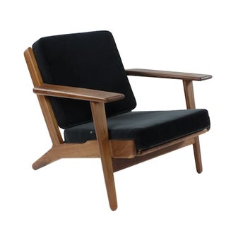 Stilnovo Danish Black & Walnut Klum Lounge Chair