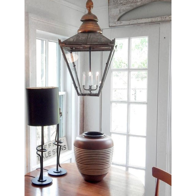 Large Copper and Zinc French Lantern - Image 8 of 8