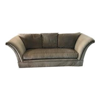 Khaki Marge Carson Velvet Sofa