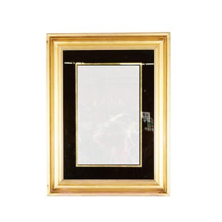 English Reverse Painted Gold Mirror in Gilt Frame