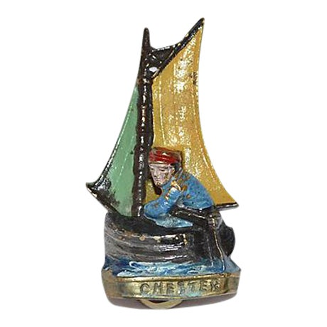 Original Enamel Sailboat Door Knocker - Image 1 of 11
