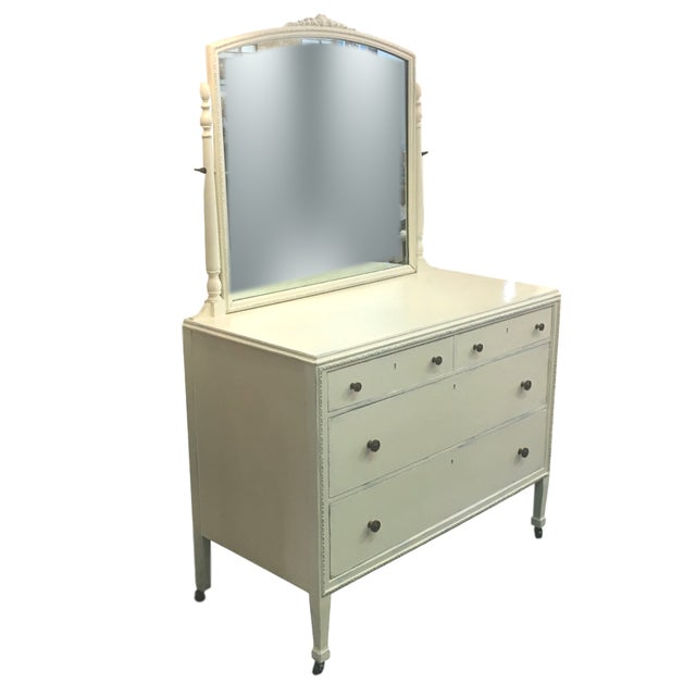 Vintage Hand Painted Dresser & Mirror - Image 2 of 9