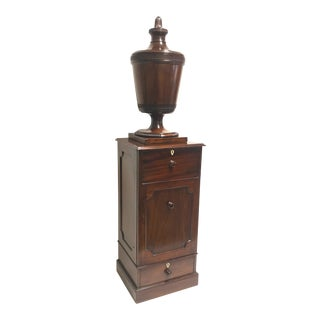 George III Mahogany Carved Urn on Stand