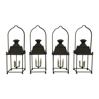 French Iron Lanterns - a Pair