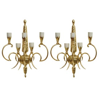 Italian Brass Sconces - Pair