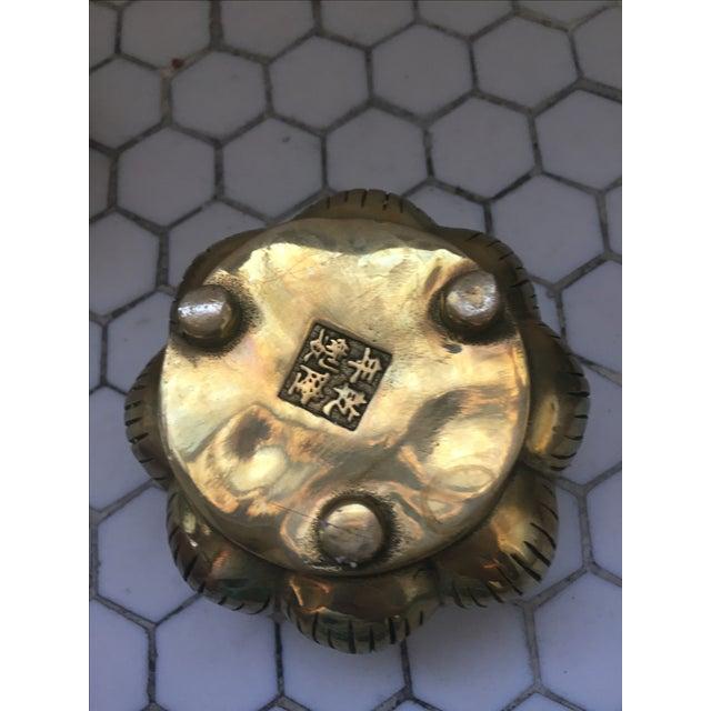 Hands on Lotus Brass Incense Burner - Image 7 of 8