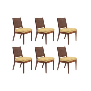 Six Solid Walnut Dining Chairs by John Kapel
