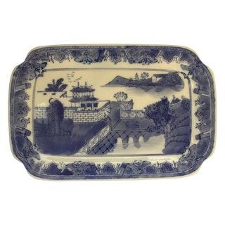 Chinoiserie Blue & White Serving Platter