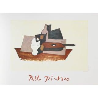 Pablo Picasso - Guitare Verre Et Bouteille Litho