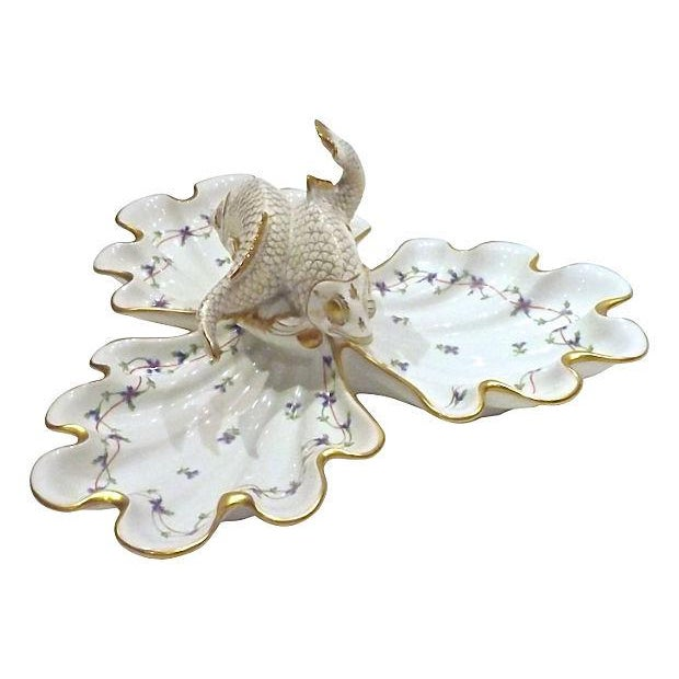 Vintage Herend Porcelain Fish & Shell Serving Tray - Image 5 of 9