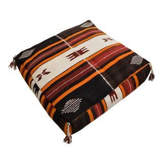 Turkish Hand Woven Kilim Floor Cushion - 28″ X 28″
