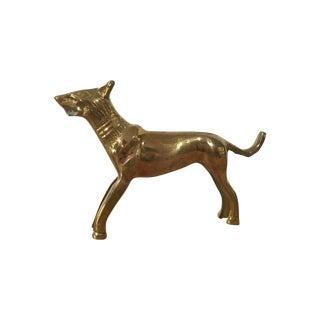 Solid Brass Wolf Figurine