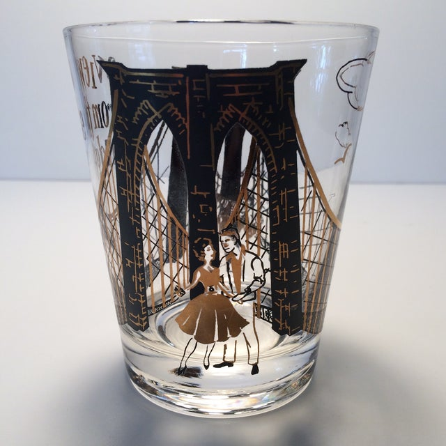 "Image of 2 - Hollywood Regency Lo-Ball Glasses ""A View From the Bridge"""