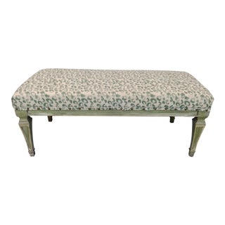 1960s French Style Leopard Ottoman