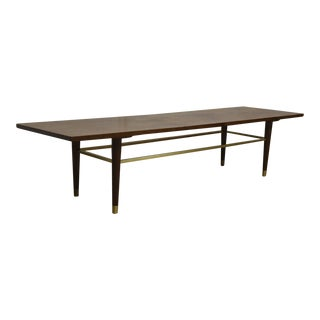 Walnut & Brass Coffee Table