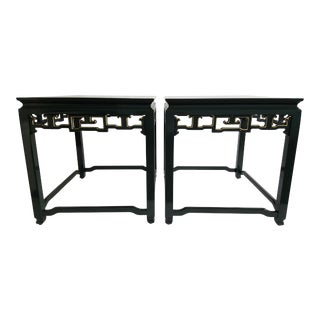 Lacquered Fretwork Side Tables - A Pair