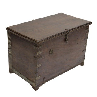 Antique Rosewood Campaign Trunk