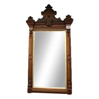 Black & Gold Wooden Rectangle Mirror