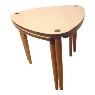 Mid-Century Guitar Pick Nesting Tables - A Pair