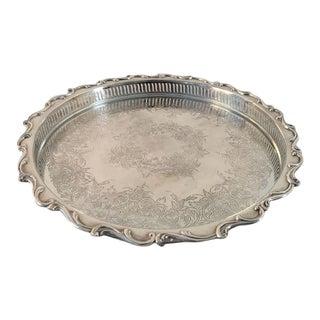 Elegant Webster Wilcox Heavy Silver Plate Tray