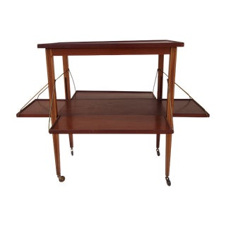 English Mahogany Tea Cart