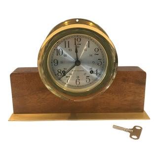 Seth Thomas Brass Wood Corsair W Clock