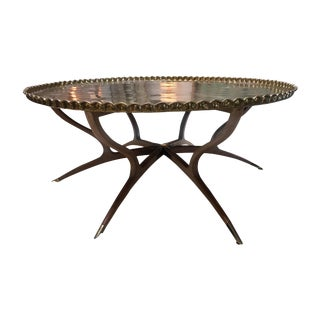 Moroccan Brass Top Table