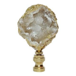 Chunky Gold Leaf Geode Gemstome Finial