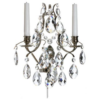 Wall Sconce - Chrome Baroque-Style