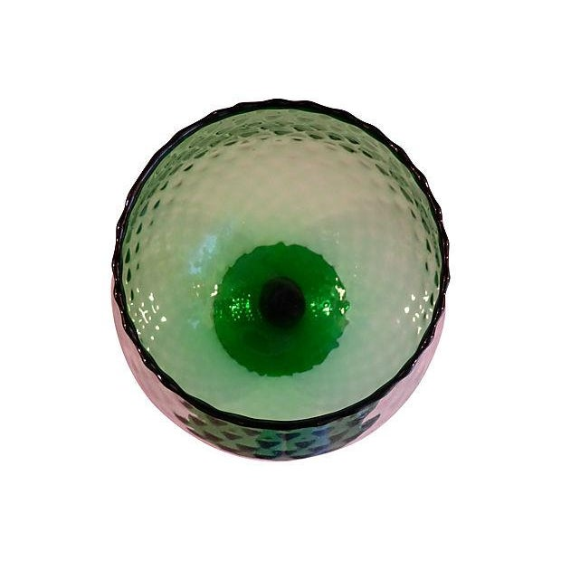 Emerald Green Stemware Art Glass Vase Chairish