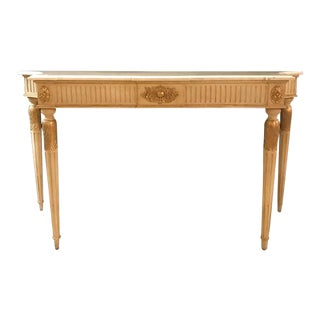 Hollywood Regency Maison Jansen Style Marble-Top Console
