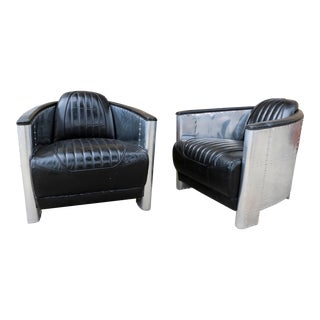 Aviator Style Chairs - A Pair