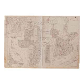 Vintage Hopkins Map of Somers Sub Plans Amawalk Lake Purdys