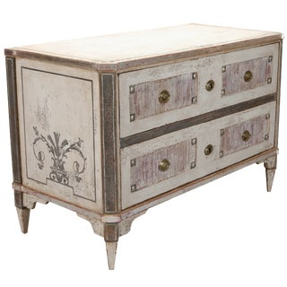 19th Century German Paint Decorated Chest of Drawers