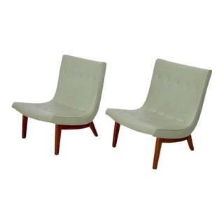 Original Pair of Milo Baughman Scoop Lounge Chairs USA , 1950s