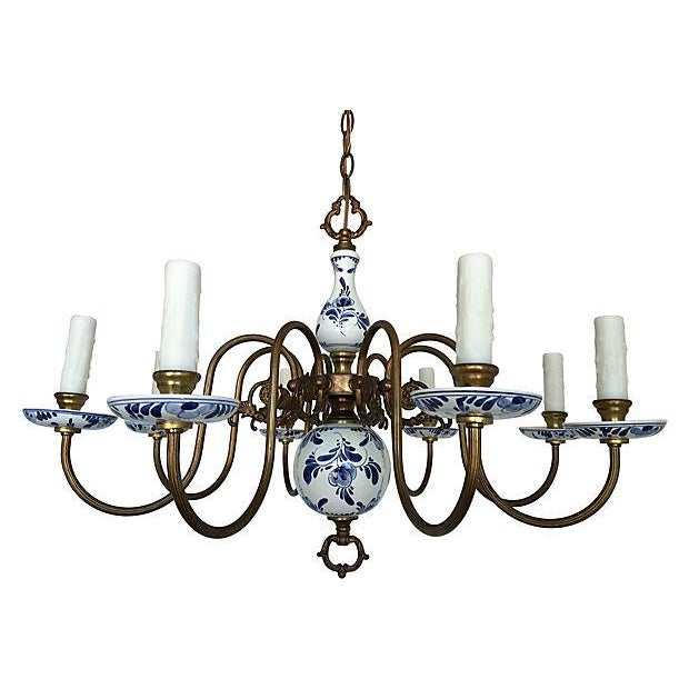 Blue & White Porcelain Chandelier - Image 7 of 8