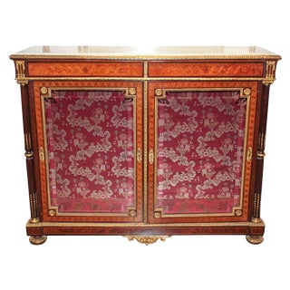 French Marquetry & Bronze Cabinet