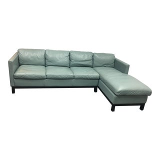 Two-Piece Moroni Leather Sectional
