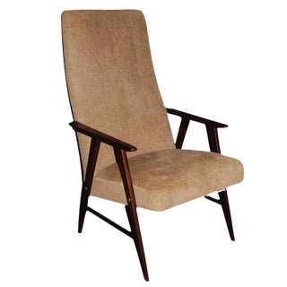 Vintage Swedish Modern Chenille Armchair