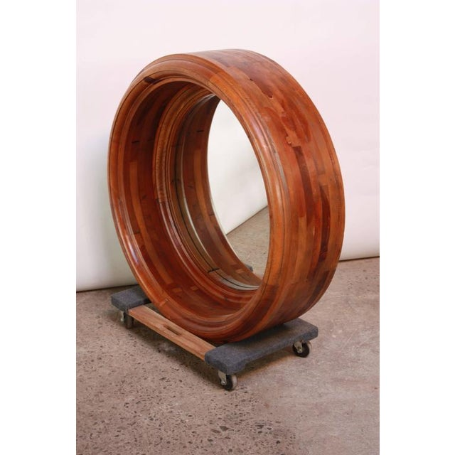 Image of Large Wooden Porthole Mirror by Ralph Lauren