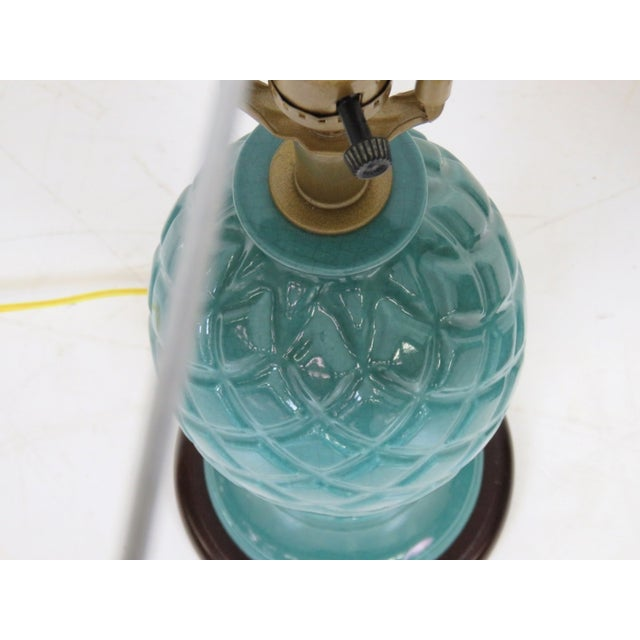Image of Turquoise Pineapple Lamps - A Pair