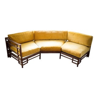 Ficks Reed Mustard Velvet Bamboo Sectional
