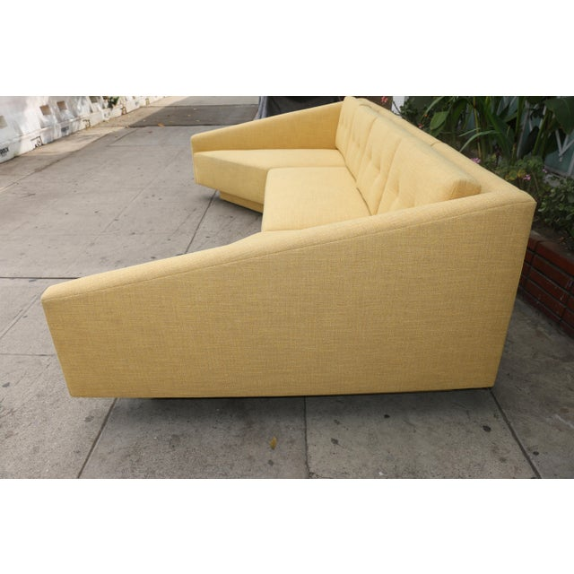 Yellow Sectional Sofa - Image 4 of 11