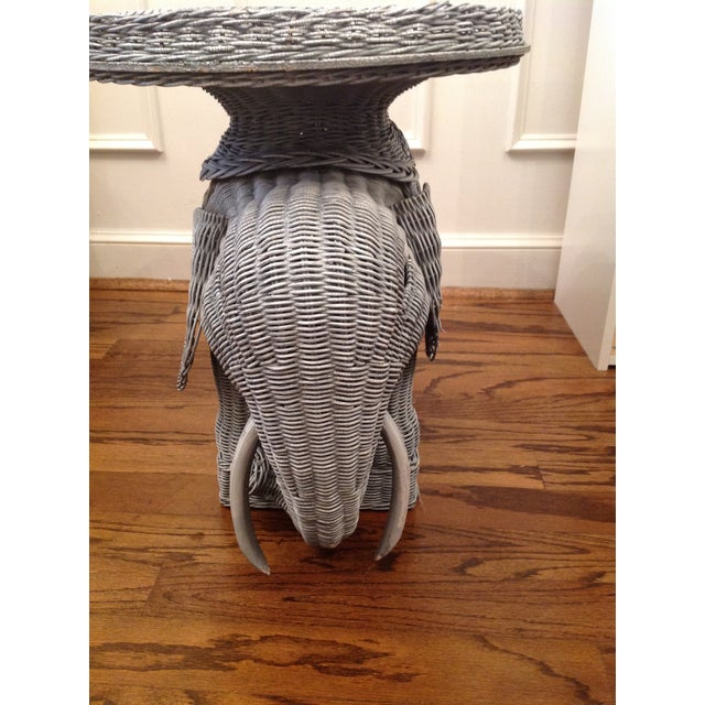 Chinoiserie Palm Beach Wicker Elephant Table - Image 2 of 4